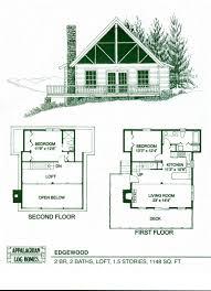 2 bedroom log cabin floor plans 9 cool design with loft and garage