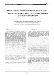 application of combined chemical coagulation and