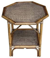 Wicker Accent Table Rattan End Tables Iron Wood