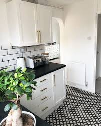 black worktop white cupboards kitchen single gives drab kitchen a stunning makeover with a