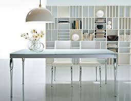 White Contemporary Bookcase by Modern White Dining Table Brisk White Contemporary Extendable
