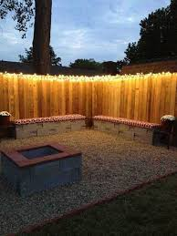 Backyard Fence Decorating Ideas by Best 25 Fence Lighting Ideas On Pinterest Privacy Fence