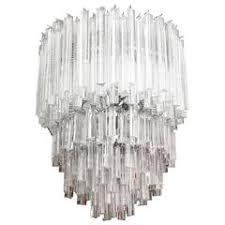 Chandelier Prisms For Sale Venini Five Tier Cascading Chandelier With Murano Glass Triedri