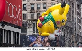 Thanksgiving Day 2014 In Us Pikachu Balloon At The Macy U0027s Thanksgiving Parade New York City