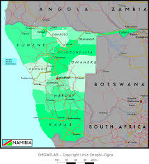 Namibia Map Namibia Political Wall Map Maps Com