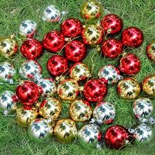 Silver Christmas Tree Baubles - 36 pack christmas baubles xmas tree decorations silver gold red