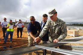 Air Force One Installation by The First Solar Panels Installed On Large Scale Solar Projects At