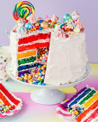 how do you make a cake how to make a rainbow layer cake with a candy inside kitchn