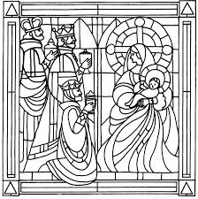 stained glass christmas coloring pages coloring kids