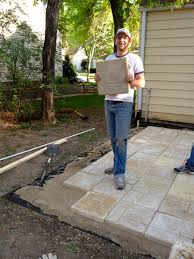 Flagstone Patio Installation Cost by Bring On The Yardwork Part 1 Installing A Paver Patio Patio