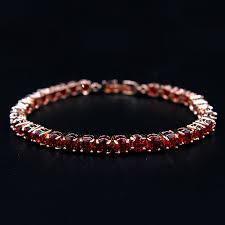 bracelet color bands images Charm zircon bracelet rose gold color bands pave 0 5carat red or jpg