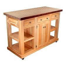 incredible portable kitchen island butcher block top with chrome