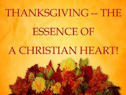 thanksgiving the essence of a christian washington