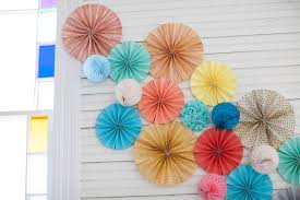 wedding paper fans colorful wedding at mercury southern weddings