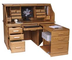 Computer Desk With Return Computer Roll Top Desk With Pull Out Return From Dutchcrafters Amish