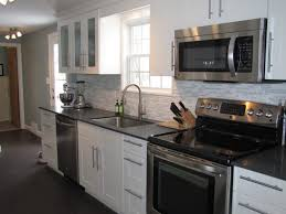 kitchen design white cabinets black appliances design home