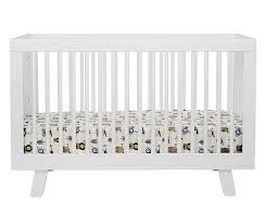Modern Convertible Crib Hudson 3 In 1 Convertible Crib With Toddler Rail In White Twinkle