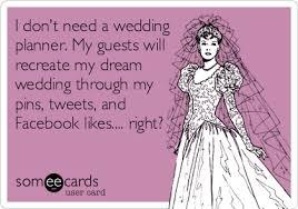 i need a wedding planner attaining domesticity