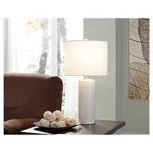 steuben table lamp set of 2 white signature design by ashley