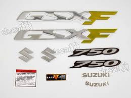 kit jogo faixa emblema adesivo suzuki gsxf 750 cr27 r 179 90 em