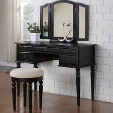 black vanity set with lights black vanity tables you ll love wayfair