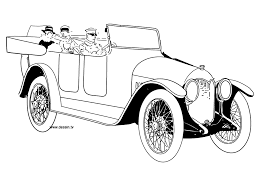 coloring vintage car