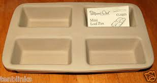 pered chef mini loaf pan 1418 family heritage stoneware bread