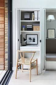 attractive concealed desk cupboard workspace with shelves small