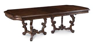 table tasty dining tables unfinished pedestal table double base