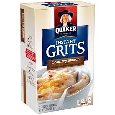 quaker country bacon instant grits 12 count 1 oz packets