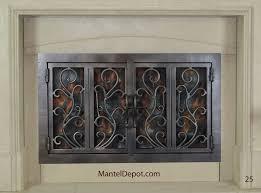 wrought iron fireplace doors binhminh decoration