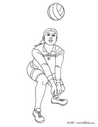 volleyball passing action coloring pages hellokids