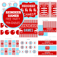 free reindeer games party printables from printabelle catch my party