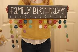 family birthdays what a great idea love the fun colors she
