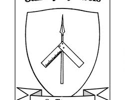 saintly symbols st thomas coloring sheet resource