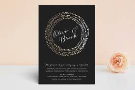 and black wedding invitations black tie foil pressed wedding invitations by eric clegg minted