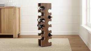 big sur smoke 12 bottle standing wine rack crate and barrel