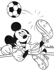 mickey mouse safari coloring pages mickey score goal