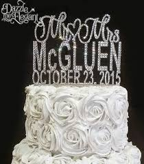 wedding cakes with bling affordable monogram cake toppers cake banding
