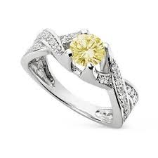 canary engagement rings moissanite canary engagement ring white gold my faux