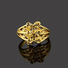 aliexpress buy new arrival fashion 24k gp gold online shop new arrival 24k gp gold color ring heart
