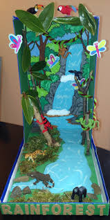 rainforest diorama our final product my son samy is so