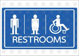 Bathroom Symbols Restroom Symbols Male Female And Wheelchair Handicap Vector