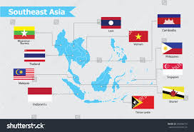 Southeastern Asia Map by Southeast Asia Map Vector Illustration Stock Vector 432056773