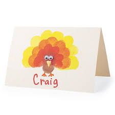 thanksgiving craft finger st place cards thanksgiving theme