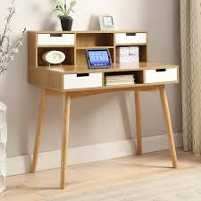 Secretary Writing Desk by Belham Living Carter Mid Century Modern Writing Desk Hayneedle