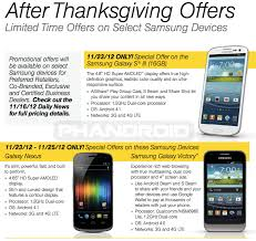 sprint black friday sale offers galaxy nexus and galaxy victory