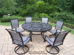 patio furniture 7 dining set adorable patio dining sets for 6 cascade 7 pc patio dining