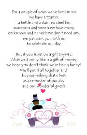wedding wishes gift registry honeymoon registry poem wedding ideas