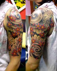 awesome sleeve tattoo awesome 3d quarter sleeve tattoo tattoomagz